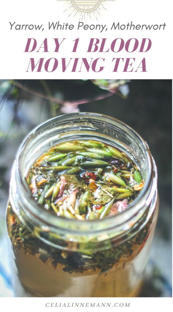 blood moving tea yarrow motherwort