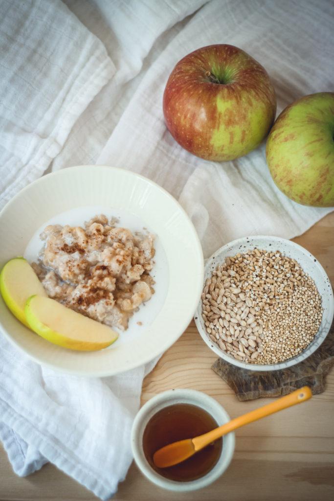 slow cooked whole grain oatmeal