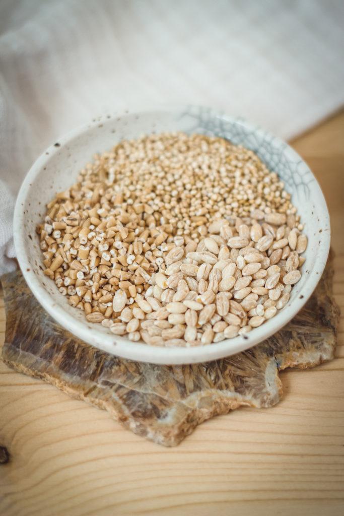 steel cut oats barley quinoa