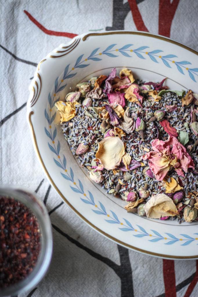 lavender rose petal rose hip tea blend