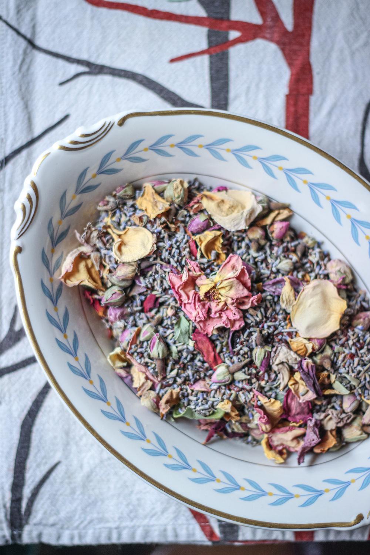 rose lavender rose hip herbal tea blend