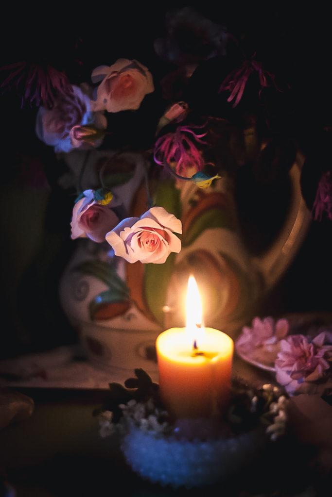 dark candle rose bud