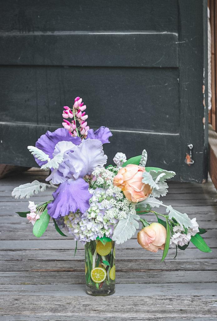 blue iris arranegment