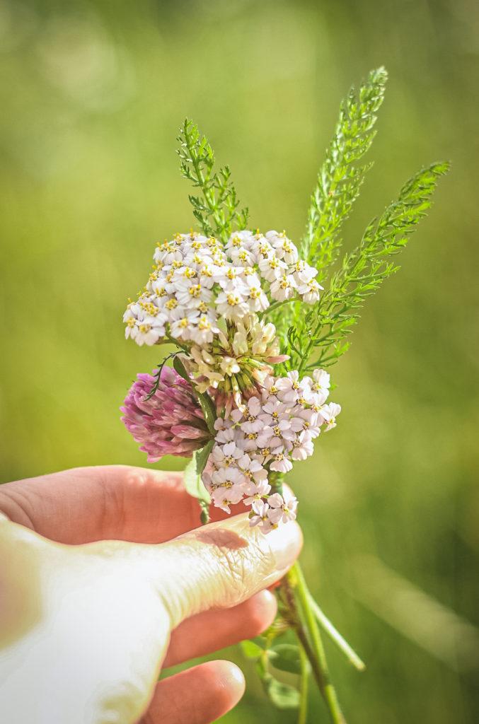 mini bouquet flower crown