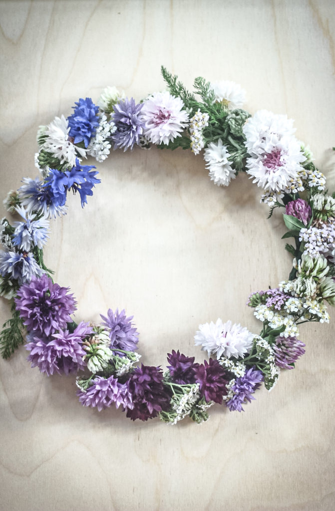 flower crown with real flowers