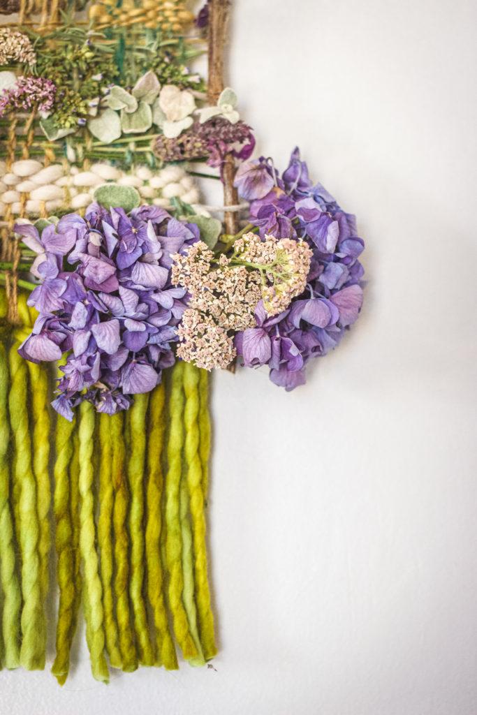 fringe close up on nature weaving craft