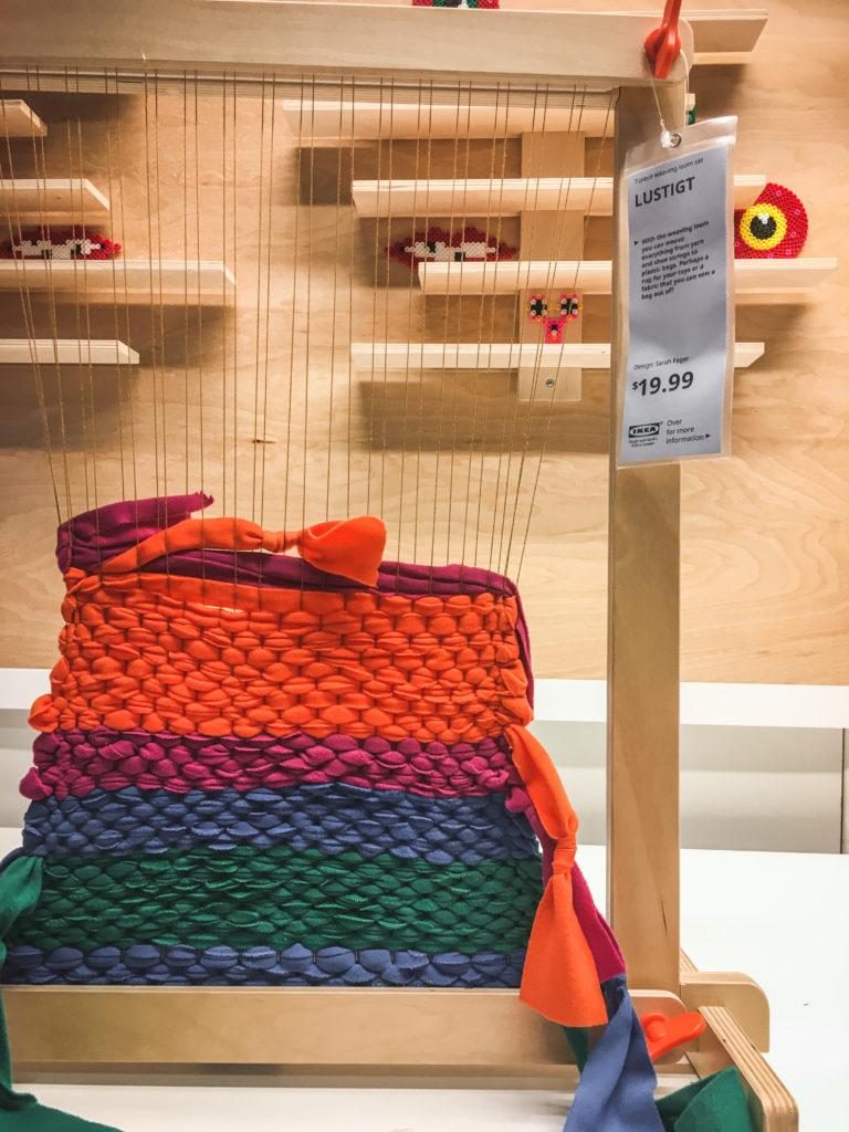 IKEA weaving loom