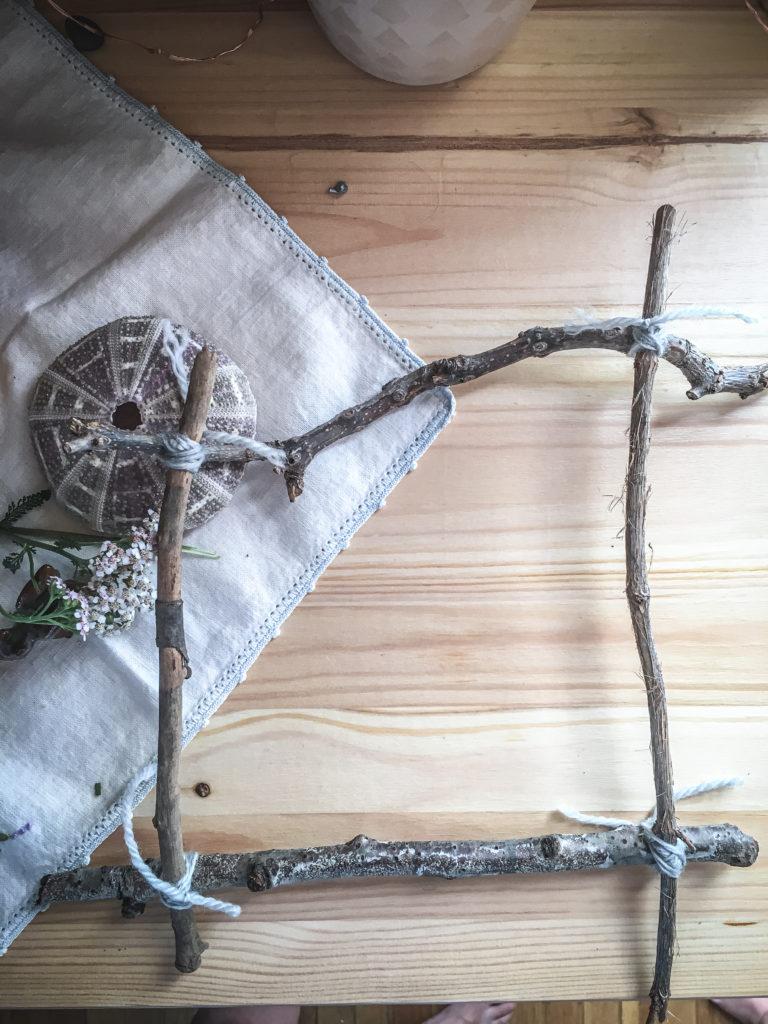 hand tied nature weaving loom